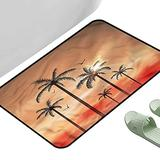 """Porch Doormats Tropical Palms Dramatic Sky 23.5"""" x 15.5"""" Rectangle Modern Area Rug with Non-Skid"""