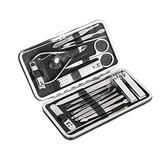 Nail Clippers Set - Manicure Pedicure Kit Fingernail Toenail Grooming Beauty Tool Stainless Steel Nail Care Kits with Luxurious Travel Set For Foot Rasp Foot Dead Skin Nail Remover(Black)