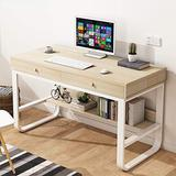 Home Office Desk, Study Writing Table Workstation Gaming Computer Desk, Modern Simple Style, Space Saving for Small Space, Multi-Layer Storage Frame Computer Laptop Office Desk Pullout Keyboard Tray