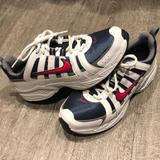 Nike Shoes | Nike Leather Athletic Shoes 7y Or 8.5 Womens Ec | Color: Blue/Red | Size: 7y - Womens 8.5 Nike Conversion