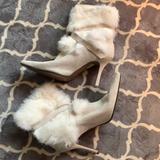 Nine West Shoes   Nine West Soft-Whitecream Furry Dress Boots   Color: Cream/White   Size: 9