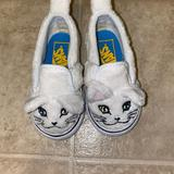 Vans Shoes | Baby Girl Kids Cat Kittin Vans Sneakers Shoes | Color: White | Size: 4.5bb