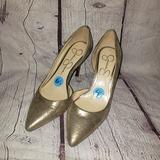 Jessica Simpson Shoes   Jessica Simpson Gold Metallic Pointed Toe Heels   Color: Gold   Size: 6.5