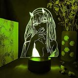 Anime Lamp 3D Light Led Colors Changing Nightlights 3D Visual Lighting for Bedroom Cartoon Comics Light Home Decor Lampdesk/Table Nightlights Creative Gift Kids and Adult -16 Color Remote
