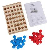 4 in A Row Kid Child Game Children's Educational Board Game Toys 4 in A Row Wooden Game for The Whole Family