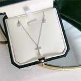 N\C Women's Pendant Necklaces - 925 Sterling Silver Tassel Heart Star Cross Bead Charm Pendant Choker Necklace for Girl Women Statement Wedding Jewelry,Silver