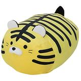 Fat Yellow Tiger Plush Dolls Large Striped Tiger Stuffed Animals Toy Pillow Buddy Soft PP Cotton Long Tiger Plushie Cushion Decor Gifts Xmas Birthday,19.7''