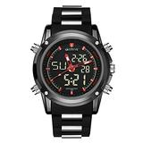 Mens Sports Wrist Watches - Men's Military Watch Mens Sports Digital Watches Military Waterproof Analogue Watch Stopwatch Alarm Calendar Casual Watches for Man with Big Face LED Backlight Men's Mi