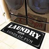 Ukeler Laundry Room Rug and Mats Non Slip Durable and Waterproof Farmhouse Laundry Room Rug Runner Laundry Room Decor, 20''×48''