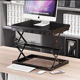 "Yahpetes Standing Desk Converter 1 Pcs Standing Desk Laptop Stand 20""X15"" Black Metal Foldable Portable Computer Desks Height Adjustable Z-Type PC Desktop Holder Office Writing Desk (Black)"