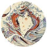 Ultra Soft Japanese Love Art The Great Wave of Lovers Area Rugs for Bedroom Fluffy Bedside Rug Mat for Kids Nursery Rugs Living Room Soft and Comfy Non-Slip Floor 60 Inch Wool Round Mat Carpets