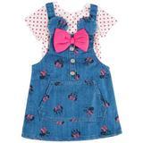 Minnie Mouse Toddler Girls 2-pc. Denim Shortall Set