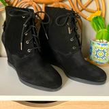Michael Kors Shoes   Micheal Kors Carrigan Wedge Sued Boots   Color: Black   Size: 10
