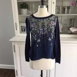 Anthropologie Tops   Anthropologie Paisley Navy Sweater   Color: Blue   Size: M