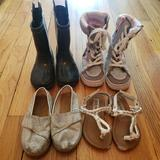 Disney Shoes | 4 Pairs Of Shoes, Size 7 Toddler | Color: Pink/Silver | Size: 7bb