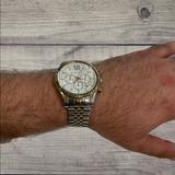 Michael Kors Accessories | Michael Kors Lexington Chronograph Stainless Steel | Color: Gold/Silver | Size: Os
