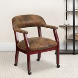 Flash Furniture Gray Fabric Guest ChairManufactured Wood in Brown, Size 26.0 H x 25.0 W x 18.0 D in | Wayfair B-Z100-BRN-GG