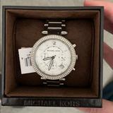 Michael Kors Accessories | Parker Silver Dial Stainless Steel Watch 39 Mm | Color: Silver | Size: Os
