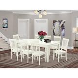 Darby Home Co Beesley Butterfly Leaf Rubberwood Solid Wood Dining Set Wood in White, Size 30.0 H in | Wayfair DABY5561 45412958