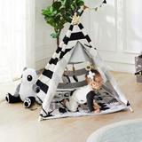 Indigo Safari kids Sonny Cotton Play Tent Cotton in Black/Gray, Size 43.0 H x 35.0 W x 35.0 D in   Wayfair 828B2C1A292A44FEBEB5935D24543D3A