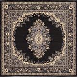 World Menagerie Balthrop Oriental Black/Beige Area Rug in Black/Brown, Size 96.0 H x 96.0 W x 0.33 D in   Wayfair D6236431793344C1BBF802B7DC5C4F73