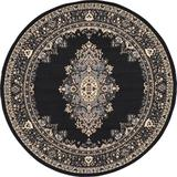 World Menagerie Balthrop Oriental Black/Beige Area Rug in Black/Brown, Size 96.0 H x 96.0 W x 0.33 D in   Wayfair 4523DCF896CC47E28D7FB9BFC2CBBAC7