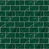 "Walplus 6"" x 11"" Aluminum Peel & Stick Subway Tile Metal in Green, Size 11.2 H x 5.5 W x 0.01 D in   Wayfair WT1703X3"