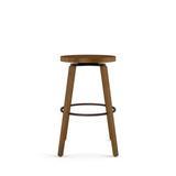 "Corrigan Studio® Ndayisenga Swivel Counter & Bar StoolWood in Brown, Size Counter Stool (24.88"" Seat Height)   Wayfair"
