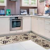 Rosecliff Heights 2 Pieces Cushioned Chef Rug Microfiber Kitchen Rugs Non-Slip Rubber Floor Mat Kitchen Carpets Machine Washable Mat Synthetics