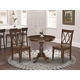 Alcott Hill® Katharina 2 - Person Rubberwood Solid Wood Dining Set Wood in Brown, Size 30.0 H in   Wayfair FAE69D33C4714D49A9E5D9FA1886EF91