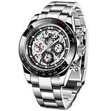 PAGANI DESIGN Men's Multi-Function Mechanical Watch Waterproof Watches Business Casual Stainless Steel Automatic Watch Wrist Watch for Men (1653 Black)