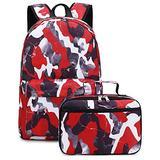 Boys Backpacks for School, JIANYA Kids Backpacks with Lunch Box Teens School Backpack Bookbags