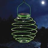 The Holiday Aisle® Alrik Solar Powered Integrated LED Outdoor Wall Lantern Metal, Size 9.0 H x 6.0 W x 6.0 D in | Wayfair