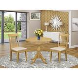 Alcott Hill® Morrigan -OAK-C 3 Piece Dining Table Set - 1 Modern Dining Table & 2 Oak Dining Room Chair - Oak Finish   Wayfair