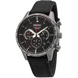 Chronograph Quartz Black Dial Watch - Black - Seiko Watches