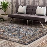 Vintage Persian Medallion Pattern Area Rug, Bohemian Soft Multicolor Area Rug, Carpets Bedroom Living Room Rugs(Black Blue,80x160cm)