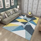 DecorationPaper Area Rug, Carpet by Persian Rugs, for Living Room Modern Design Carpet Mat, Moroccan Non Slip Area Rug, for Entry, Patio, High Traffic Areas(Yellow Blue,200x300cm)
