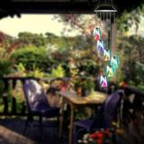 US Lamp Solar Color Changing LED Angel Wind Chimes Home Garden Yard Decor