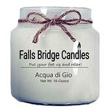 Falls Bridge Candles Acqua di Gio Scented Jar Candle, 16-Ounce, Without Lid