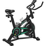 Exercise Bike Indoor Stationary Exercise Cycling Training Bike Belt Drive Exercise Bicycle with LCD Monitor for Home Gym Cardio Workout Bike Training Bike