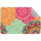 Non Skid Rug Nursery Rug Rectangle Area Rugs Rug entryway Indoor Rectangle Bedroom Rug Colorful Boho Floral 35x24in