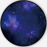 Deep Space,Carpet/Rug Round Rug Abstract Blue Non-Slip Backing Round Area Rug Bedroom Study Children Playroom Carpet Floor Mat 6'Round