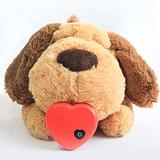KinAndKen Puppy Toy for Anxiety Relief Plush Dog Toy Dog Anxiety Relief Toys Puppy Toy with Heartbeat Dog Calming Behavioral Training Toy Sleeping Animal Plush Buddy for Separation Anxiety Relief