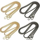 4PACKS Bag Handle Long Chain Strap For DIY Handbag Purse Shoulder Black + Gold