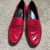 Kate Spade Shoes | Kate Spade Red Patent Leather Loafers Size 9 | Color: Red | Size: 9