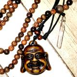 Urban Outfitters Jewelry | Mala Beads, And Buddha Necklace | Color: Silver | Size: Os