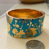 Kate Spade Jewelry | Katespade Florence Broadhurst Floral Bracelet | Color: Blue/Gold | Size: Os