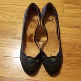 Anthropologie Shoes | Platform Fabric Pumps | Color: Blue/Green | Size: 9.5