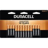 Duracell CopperTop Alkaline AAA Batteries - For Smoke Alarm, Flashlight, Lantern, Calculator, Pager, Camera, Radio, CD Player, Medical Equipment, Toy, Game, ... - AAA - Alkaline - 240 / Carton - DURMN2400B20CT