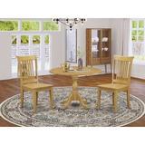 Alcott Hill® Zilla -OAK-W 5 Piece Dining Set - Oak Modern Dining Table w/ 4 Dining Chairs - Oak FinishWood in Brown | Wayfair